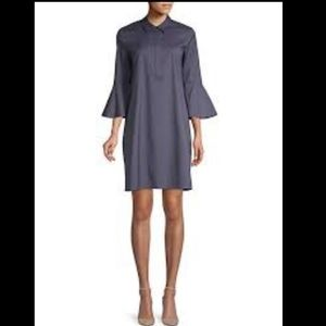 LAFAYETTE 148  Lunella Bell-sleeve Shift Dress  SM